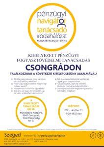 Szeged PNTI – kitelepülés Csongrádon 2021.10. hóban @ Csongrád - Művelődési Központ