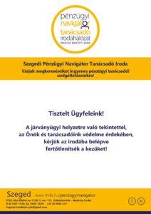 Szeged PNTI - ügyfélfogadás 2021.10. hóban - biztonsági előírások @ Szeged PNTI Iroda